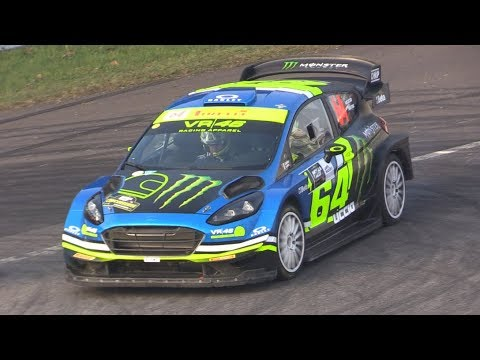 VR46 Monster Energy Team Ford Fiesta Wrc Plus at Monza Rally Show 2018 Shakedown