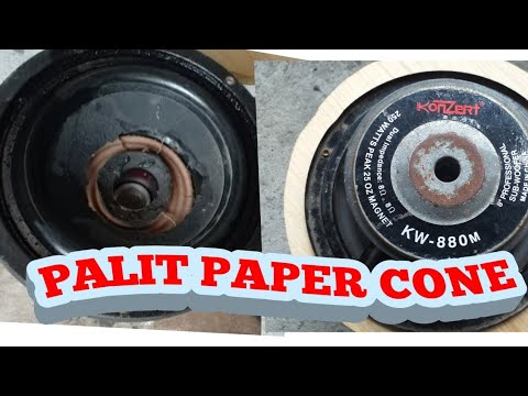 SPEAKER REPAIR, KONZERT(replace paper Cone and spider)