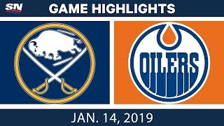 NHL Highlights | Sabres vs. Oilers - Jan. 14, 2019