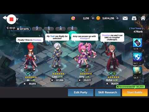 Grand Chase- Trial Tower 45 with only 130 k BP Mechanics