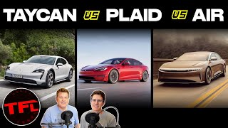 Here's How The New 200 MPH Tesla Model S Plaid Compares To The Lucid Air And Porsche Taycan!