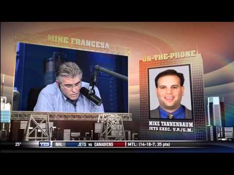 Mike Francesa interviews NY Jets GM Mike Tannenbaum Pt:1