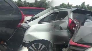 Tabrakan Beruntun Terjadi di Tol Jakarta Cikampek, Libatkan Tujuh Mobil