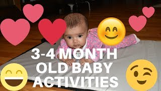 How to entertain a 3-4 Month old baby/tummy-time and more baby developments