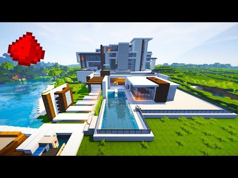 Modern Mansion (w/ Some Redstone) Minecraft Blog
