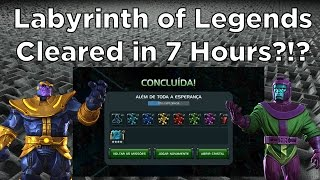 Labyrinth of Legends Cleared in 7 Hours?!?! - Marvel Contest of Champions