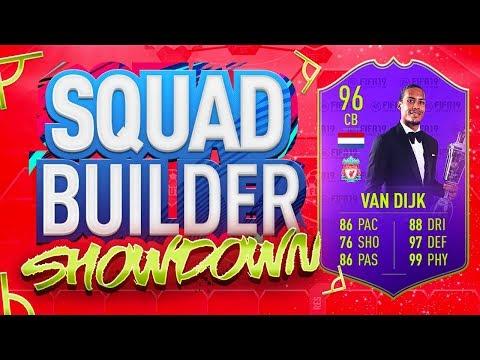 FIFA 19 SQUAD BUILDER SHOWDOWN!!! PLAYER OF THE YEAR VAN DIJK!!!