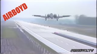 A-10 Warthog Landing On German Autobahn