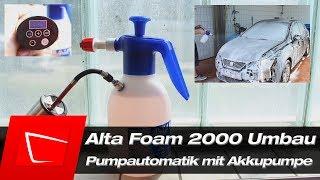 Alta Foam 2000 mit Akkupumpe -  Automatik Umbau Gloria FM10 Alternative