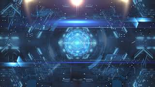 Technology motion graphics loop | Animated Motion Backgrounds | Technology abstract background video