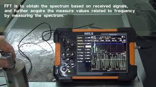 Συσκευή Ελέγχου με Υπερήχους SMARTOR SIUI- Λειτουργία UT FFT Spectrum Analysis