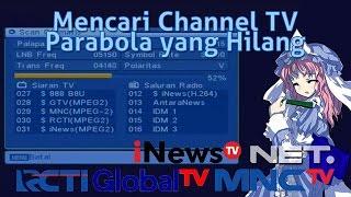 Cara Mencari Channel Parabola yang hilang (Receiver MP2)