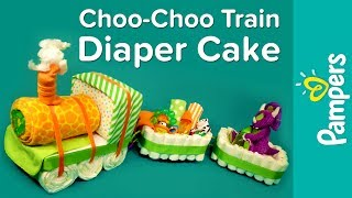 How To Make A Train Diaper Cake Pampers