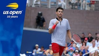 Dominic Thiem Outlasts American Taylor Fritz in Grandstand