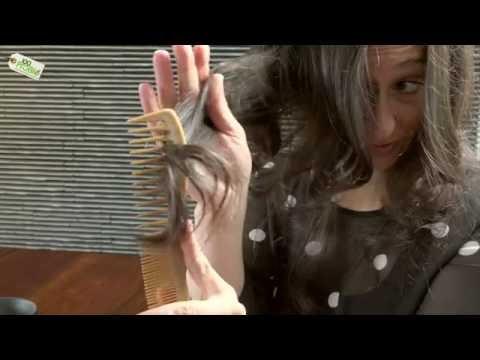 Die Maske für das Haar aus der Hyaluronsäure