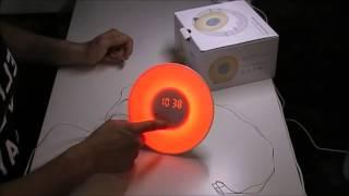✅ Amir Wake-Up Light, Lichtwecker, Wecker Lichtwecker, 6 Sounds, 5 Farben 4-Helligkeit,FM Radio