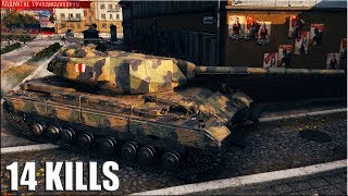 14 ФРАГОВ на 10 УРОВНЕ 🌟 World of Tanks Super Conqueror
