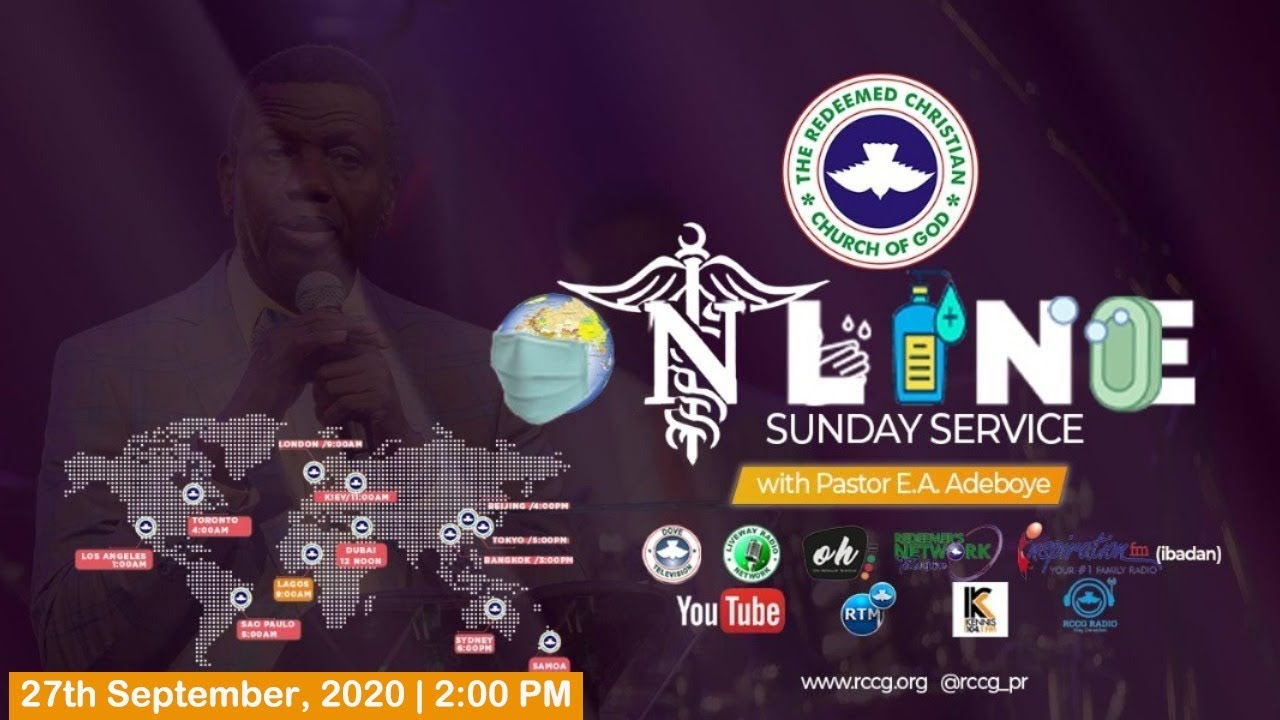RCCG Sunday Service 27th September 2020 by Pastor E. A. Adeboye - Livestream
