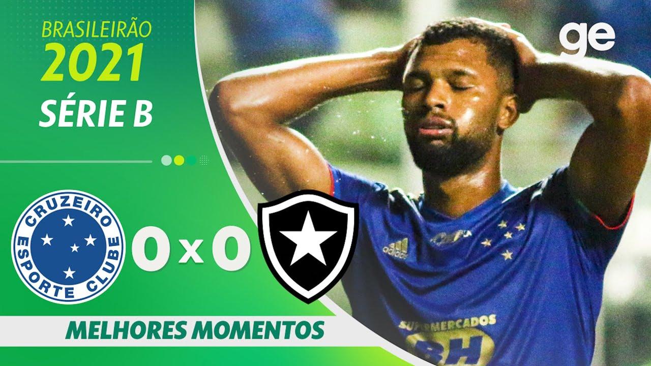VÍDEO | Melhores momentos do empate sem gols entre Cruzeiro e Botafogo em Belo Horizonte