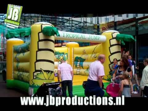 Tropical Jump onderdeel van Tropical Kids Party groot | JB Productions