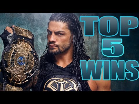 WWE Top 5 Roman Reigns Victories - Top 5 Reigns biggest Wins!