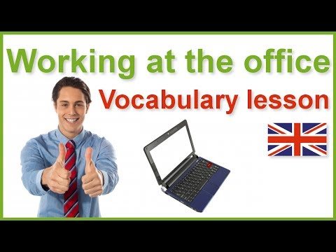 Working At The Office English Vocabulary Lesson With Subtitles