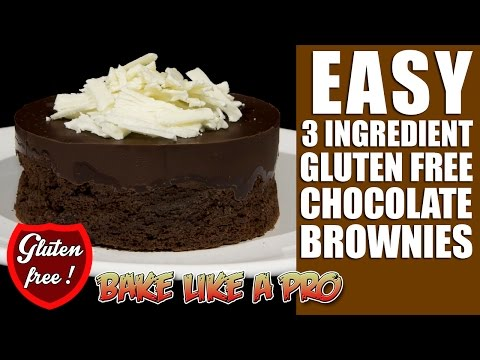 Video 3 Ingredient Gluten FREE Chocolate Brownies Recipe