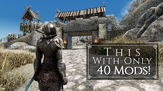 Shortest and Best Looking Micro Mod List Ever + Better Performance! | Skyrim SE Ultra ENB Graphics