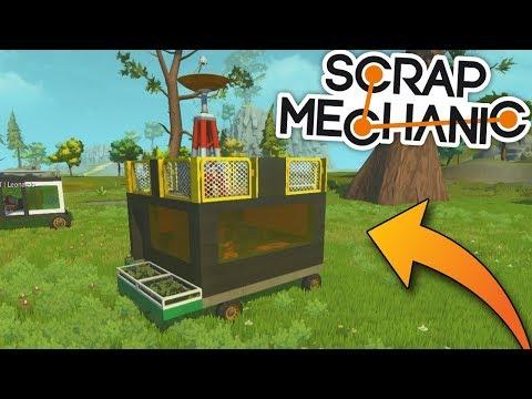 KDO MÁ LEPŠÍ BARÁK NA KOLEČKÁCH?:D - Scrap Mechanic! #3 w/Porty