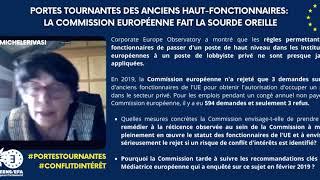 Portes tournantes: la Commission européenne fait la sourde oreille