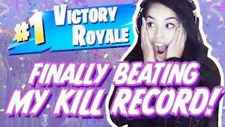 FINALLY BEAT MY KILL RECORD!!! - VALKYRAE FORTNITE HIGHLIGHTS