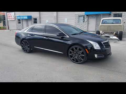 "22"" Ravetti M5 Black Wheels Cadillac XTS Review Custom Rims and Tires"