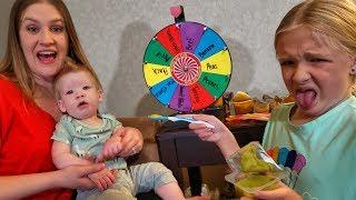 Mystery Wheel Chooses Babys Baby Food Flavor!