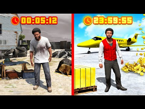 $0 to $1,000,000 in 24 HOURS in GTA 5!