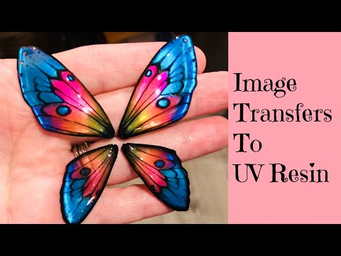 Image Transfer To UV Resin Create These Amazing Butterfly Wings - Artist Collab with TurtleSoupBeads