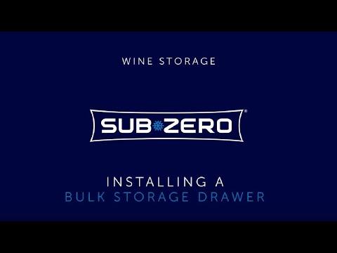 Sub-Zero Wine Storage - How To Install a Bulk Storage Drawer