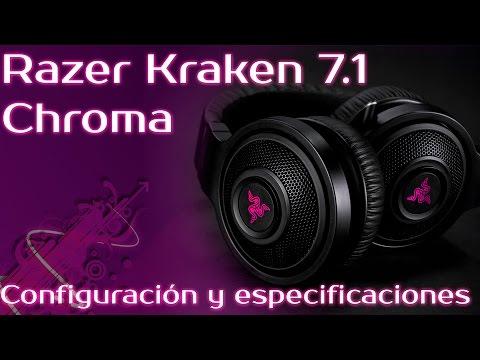 Auriculares Razer Kraken 7.1 Chroma - configuración y especificaciones