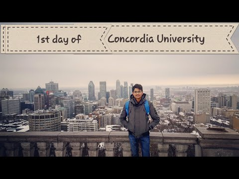 1st day of Concordia University, Montreal