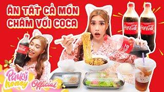 ĂN TẤT CẢ MỌI THỨ CHẤM VỚI COCA    Pinky Nấu Mì Bằng Coca Và Cái Kết Bất Ngờ   PINKY HONEY