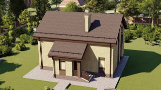 Проект дома 147-D, Площадь дома: 147 м2, Размер дома:  11,4x8,9 м
