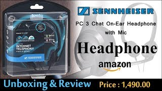 Sennheiser PC 3 Chat On-Ear Headphone | Unboxing & Review