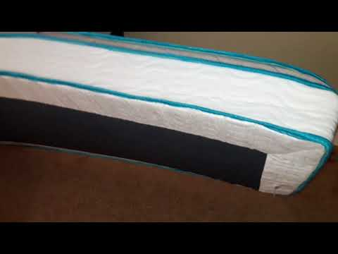 Unpackaging Linenspa 8″ spring and foam hybrid mattress