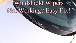 Windshield Wipers Not Working? Easy Fix!