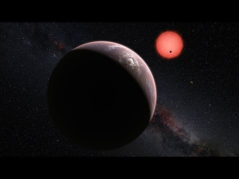 In the constellation of Aquarius, at 12 parsecs (about 39 light years) from Earth, lies an ultracool dwarf star. The star 2MASS J23062928-0502285, known as TRAPPIST-1, is much cooler and redder than the Sun and barely larger than Jupiter. Using the TRAPPIST telescope at ESO's La Silla Observatory, astronomers have discovered three planets orbiting the star. The planets have Earth-like sizes and two orbit just outside the inner edge of the star's habitable zone, while the third is probably within or beyond the habitable zone. Future studies could reveal the mass and composition of the planets, and thus their ability to host life. 