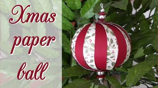 DIY: Christmas paper ball - Bola de navidad