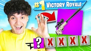 WINNING with FIRST WEAPON CHALLENGE in Fortnite (20 BOMB ONLY)