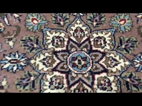 Brown and Blue Fine Kashan Oriental Rug 3'X5'2 - AT 1237