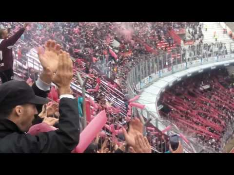 """Hinchada de Lanus vs San Lorenzo en River"" Barra: La Barra 14 • Club: Lanús"