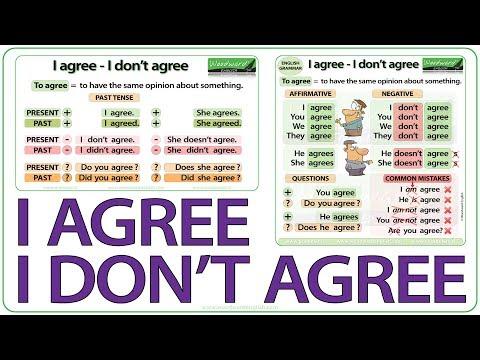 I agree - I don't agree - English Grammar Lesson