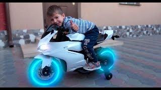 Funny Kids Ride on Sportbike Pocket bike / Unboxing and Assembling Surprise Children